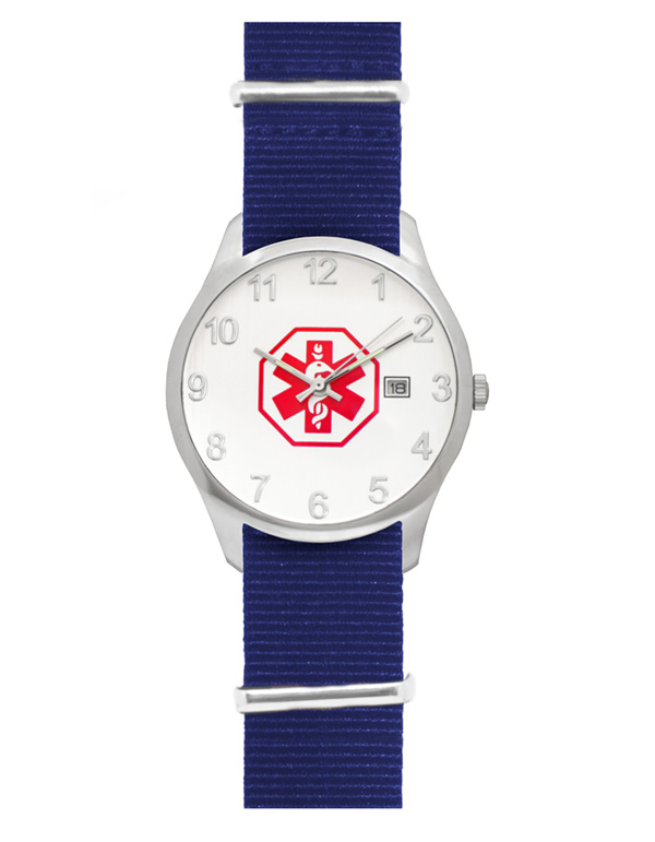 Men's Nato Medical ID Watch - Blue