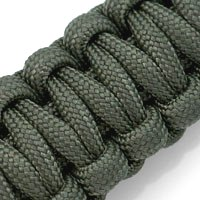 Paracord Survival Medical Id Bracelet With Screw Clasp Green