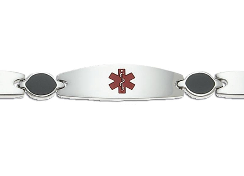 Excelsior Circle Link Stainless Steel Medical ID Bracelet