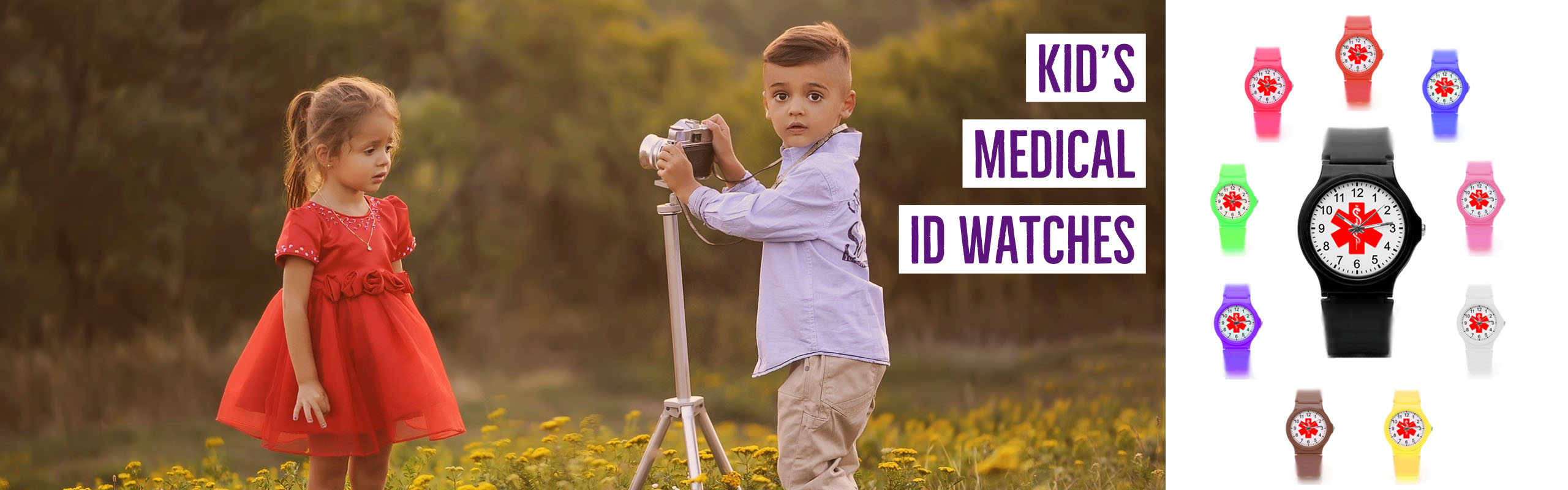 Cool and Stylish Kid's Medical ID Watches