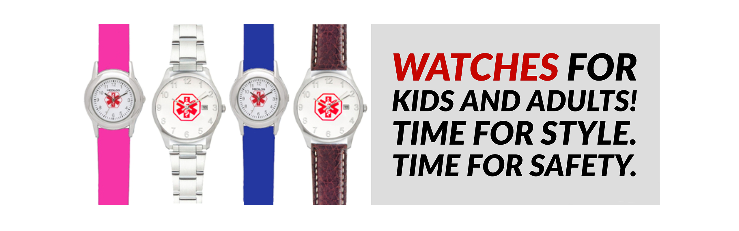 Stylish Medical ID Watches