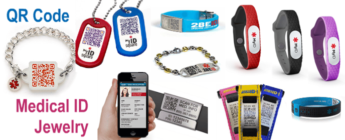 Qr Code Bracelets And Necklaces Are Perfect For People With Medical Needs Active Lifestyles Aging Pas Young Children