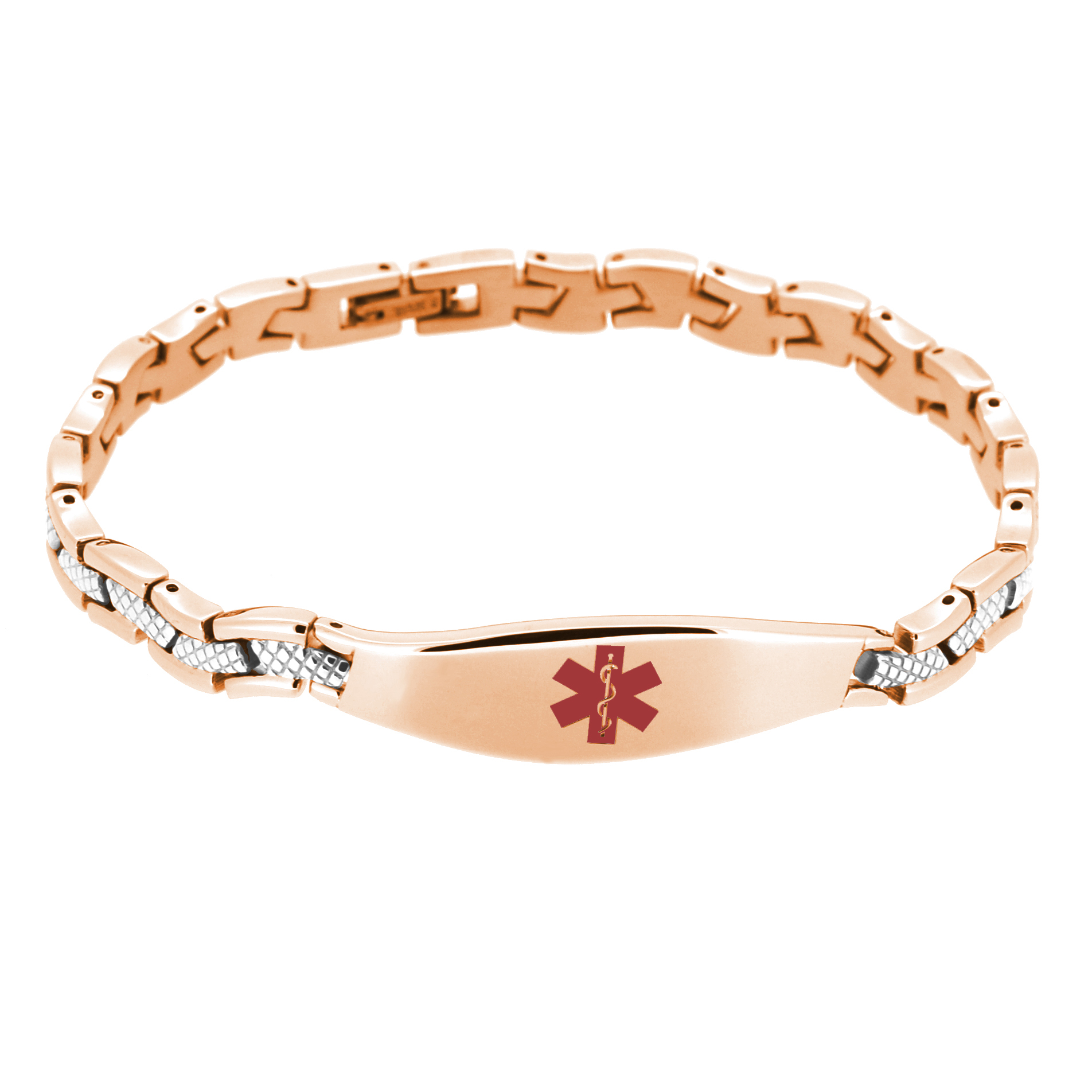 The Wave Medical ID Bracelet - Rose Gold