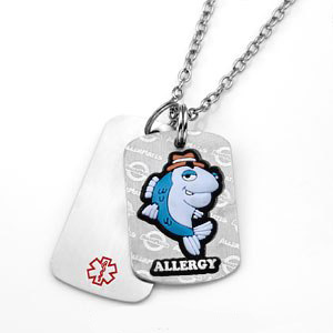 Fish Allergy AllerMates Double Tag Necklace