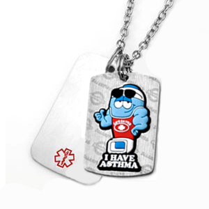 Asthma MediMates Double Tag Necklace