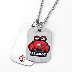Shellfish Allergy AllerMates Double Tag Necklace