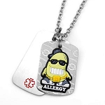 Soy Allergy AllerMates Double Tag Necklace