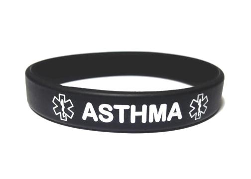 Asthma Silicone Wristband Bracelet
