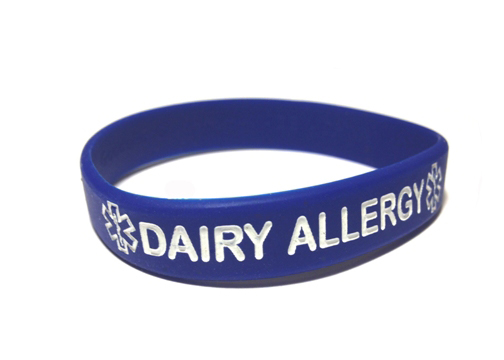Dairy Allergy Silicone Wristband Bracelet