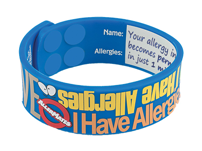 I Have Allergies Writable AllerMates Wristband - Size M/L