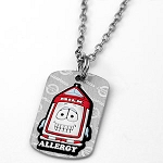 Dairy Allergy AllerMates Tag Necklace