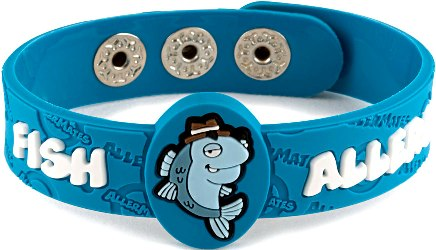 Fish allergy allermates wristband for Allergic to fish