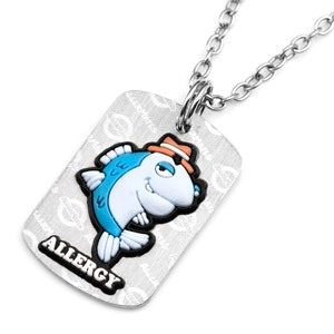 Fish Allergy AllerMates Tag Necklace