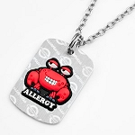 Shellfish Allergy AllerMates Tag Necklace