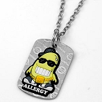 Soy Allergy AllerMates Tag Necklace