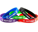 Asthma Silicone Wristband Bracelet MULTI-PACK