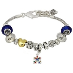 Autism Awareness Multi-Charm Bracelet