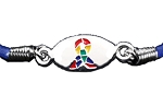 Autism Awareness Silver Stretch Charm Bracelet