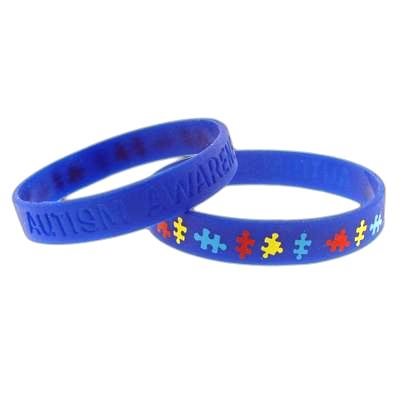 bracelet autistic awareness thethreadjunky friendship autism puzzle by pin
