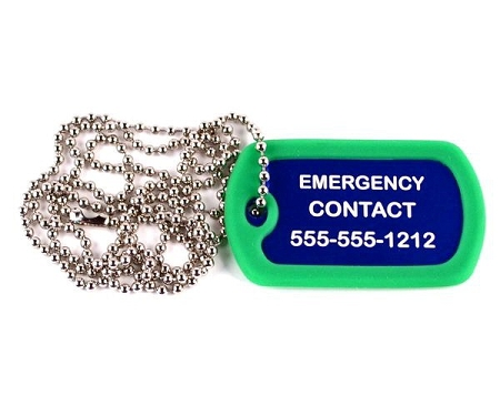 Autism Autistic Medical Alert Dog Tag Necklace Or Keychain Id