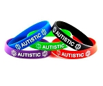 Autistic Silicone Wristband Bracelet MULTI-PACK