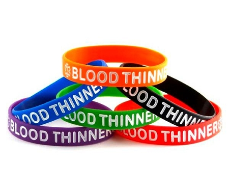 Blood Thinner Silicone Wristband Bracelet Touch To Zoom