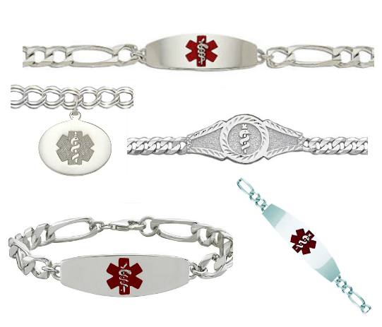 We Offer A Large Selection Of White Gold Medical Id Bracelets For Our Discriminating Customers Who Like The Finer Things In Life While Precious Metals Have