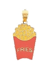 14K Yellow Gold French Fries Fun Charm
