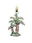 14K Yellow Gold Palm Trees Fun Charm