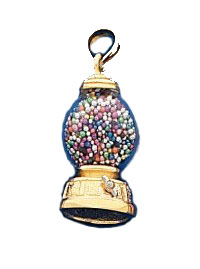 14K Yellow Gold Gumball Machine Fun Charm