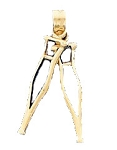 Crutches Charm Pendant in 14K Yellow Gold