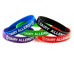 Dairy Allergy Silicone Wristband Bracelet MULTI-PACK
