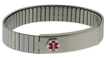 Stainless Steel Expansion Band Medical ID Bracelet