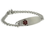 Women's Sterling Silver Medical ID Bracelet