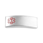 Removable Medical ID Tag for Silicone Band Bracelets - Stainless