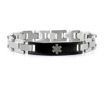Stealth Link Stainless Steel Medical ID Bracelet