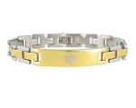 Stealth Link Stainless Steel Medical ID Bracelet - Two Tone
