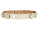 Two Tone Rose Gold and Silver Medical ID Bracelet
