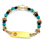 Moonlit by Ashley Daniel Beaded Medical ID Bracelet