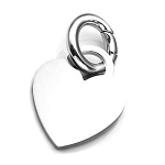 Polished Heart Pet ID Collar Tag - SMALL