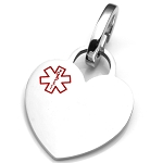 Polished Heart Pet Medical ID Collar Tag - LARGE