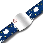 Kids Stainless Steel Medical ID Bracelet with Dream Sport Strap