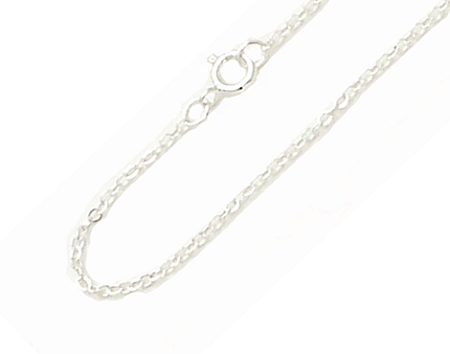 14K White Gold Cable Chain Necklace - 1.02mm Width