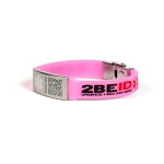 2BEID QR Code Medical ID Bracelet for Kids - Pink