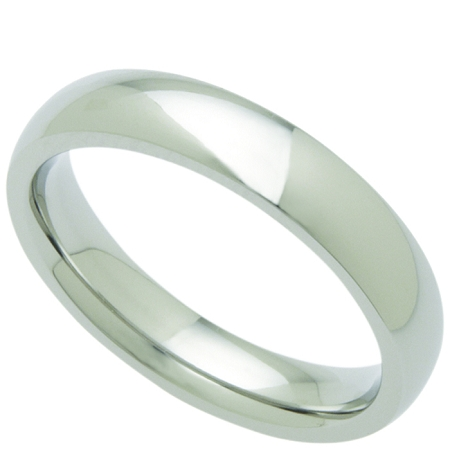 Wedding Band Stainless Steel 4mm Ring
