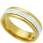 Wedding Band Two-Tone Stainless Steel 6mm Ring