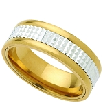 Wedding Band Two-Tone Stainless Steel 8mm Ring