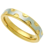 Wedding Band Two-Tone Stainless Steel 4mm Ring