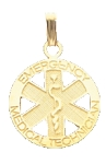 EMT Emergency Medical Technician Pendant in Gold or Silver - 20mm