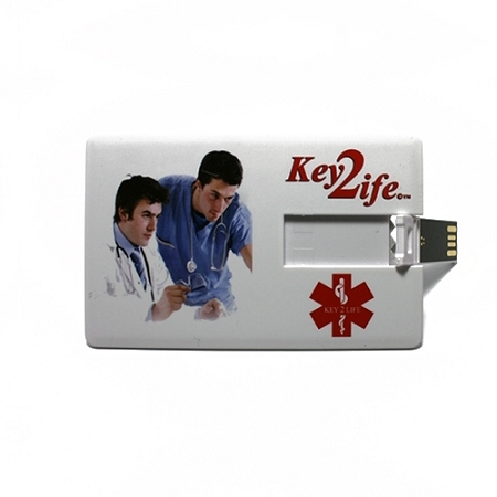 Key 2 Life® EMR Medi-Chip USB Wallet Card